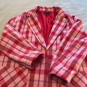 TopShop Pink Plaid Coat 14